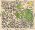 NW LONDON. Golders Green Hampstead Child's Hill Cricklewood. BACON 1948 map